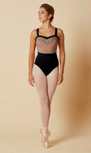 Mirella by Bloch Ladies Dance Sweetheart Embroidered Mesh Leotard M4037 Black